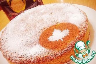 Рецепт: Пирог с фруктовым пюре или тыквой