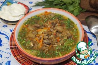 Рецепт: Грибной суп-гуляш