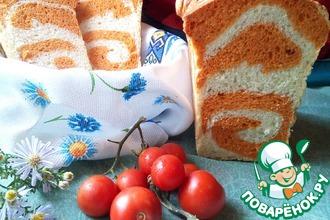 Рецепт: Томатный хлеб с рисунком