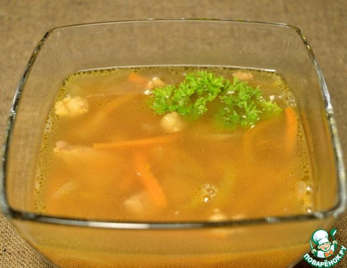 Рецепт: Мясной суп из соевых бобов