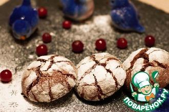 Рецепт: Рождественское шоколадное печенье