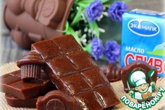 Рецепт: Шоколадные ириски на топленом молоке