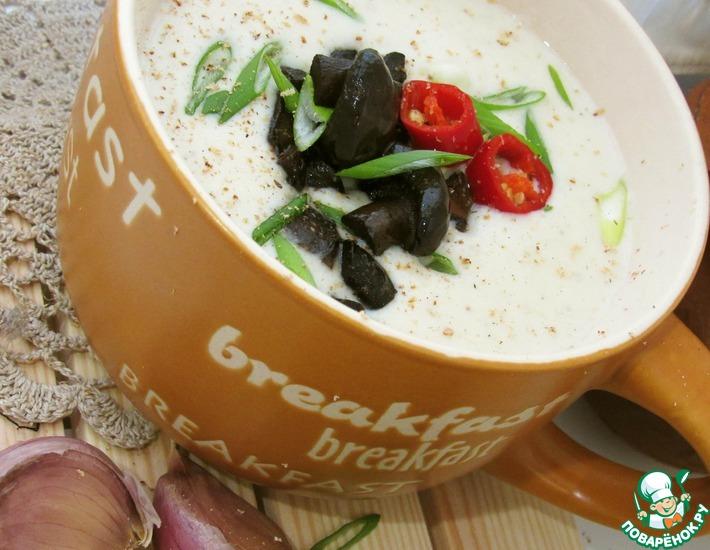 Рецепт: Рисовый суп-пюре с лесными грибами