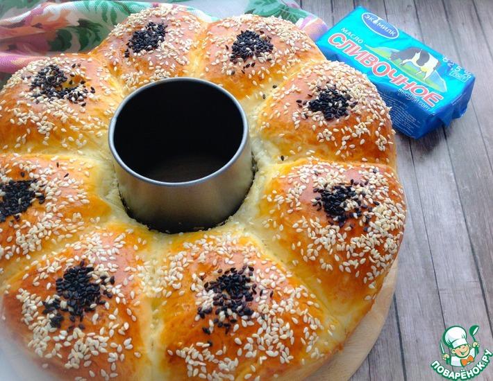 Рецепт: Пирог с картофелем и зеленью