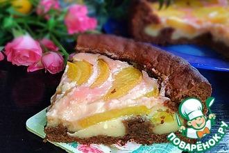 Рецепт: Шоколадный пирог с консервированным персиком Мечта