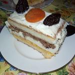Пирожное с черносливом и курагой