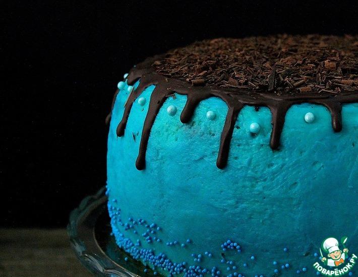 Рецепт: Торт с двумя видами крема