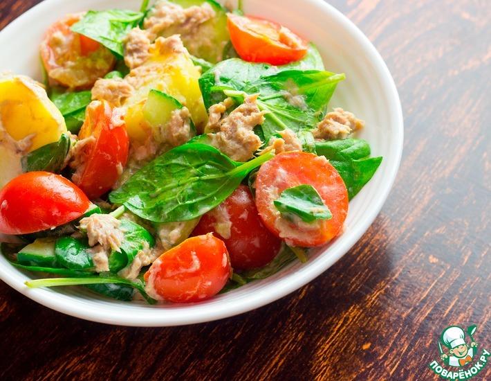 Рецепт: Салат с картофелем и тунцом