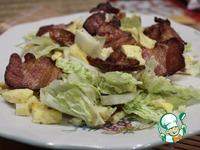Салат с омлетом и беконом Хрустик ингредиенты