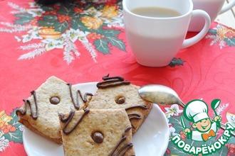 Рецепт: Печенье Трюфельные квадратики