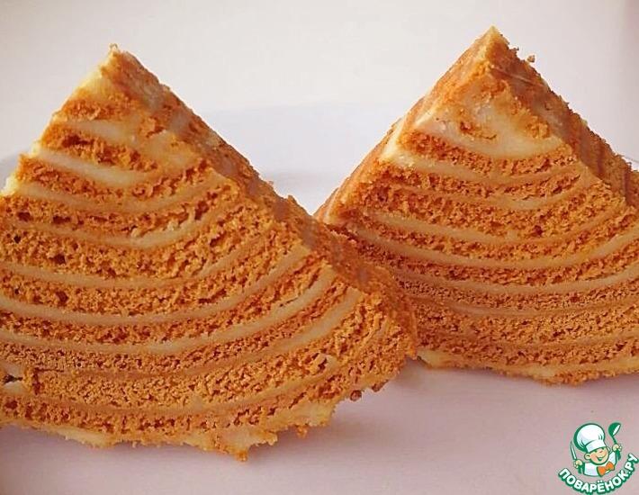 Рецепт: Торт Карамельный медовик