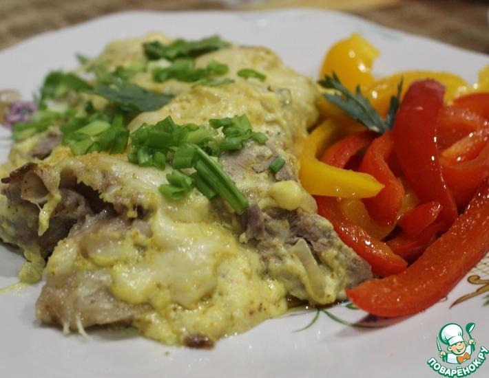 Рецепт: Разварное мясо с сыром