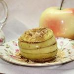 Запеченное яблоко Осенние полоски