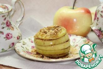 Рецепт: Запеченное яблоко Осенние полоски