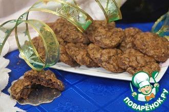 Рецепт: Американское шоколадно-кофейное печенье с орехами