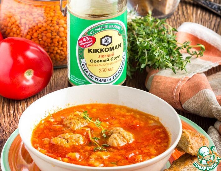 Турецкий суп из чечевицы и фарша