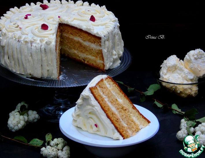 Рецепт: Простой бисквитный торт