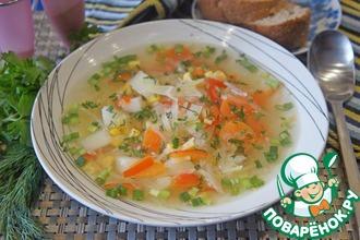 Рецепт: Овощной суп с кукурузой