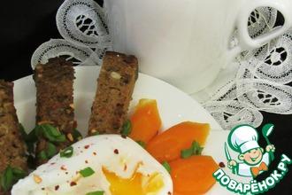 Рецепт: Пряный бульон с яйцом-пашот и гренками