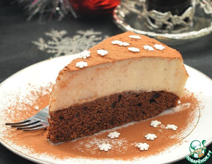Рецепт: Шоколадный пирог с манно-грушевым муссом