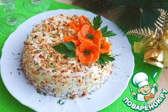 Рецепт: Салат с пряной сельдью Фаворит