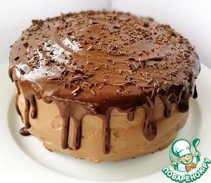 Рецепт: Торт Шоколадно-брусничный глинтвейн