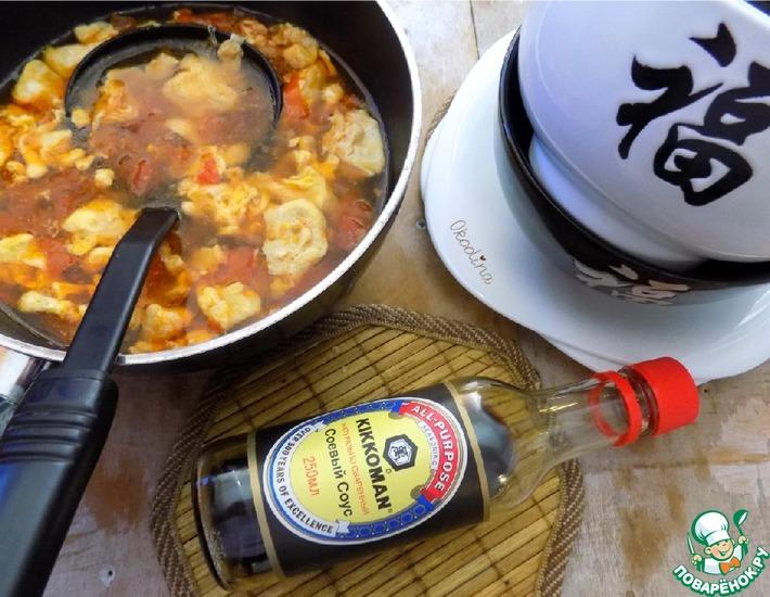 Суп яично помидорный просто кухня