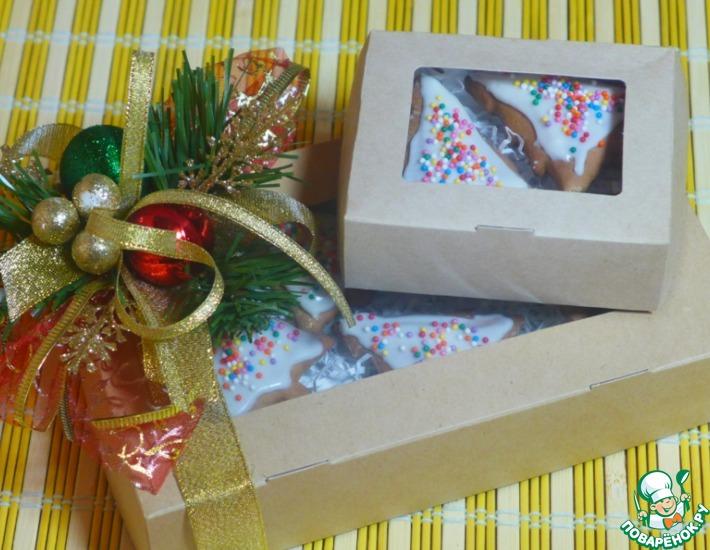 Рецепт: Новогодние пряники Подарочек
