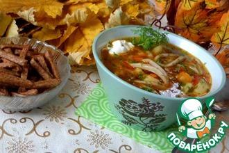 Рецепт: Овощной суп с кальмарами
