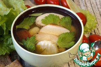 Рецепт: Овощной бульон с заправкой и ньоками