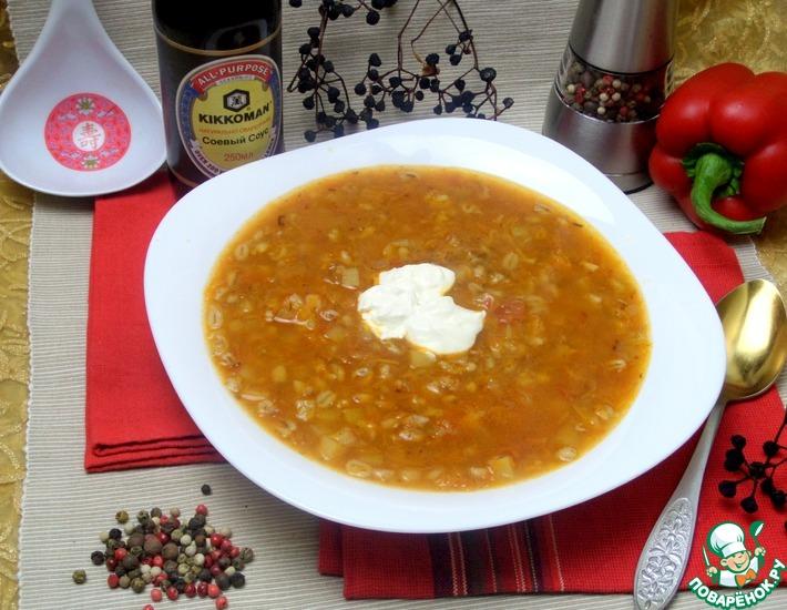 Рецепт: Куриный суп на перловке