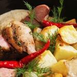 Утиная грудка с картофелем в духовке