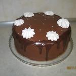 Шоколадный торт с шоколадно-карамельным кремом