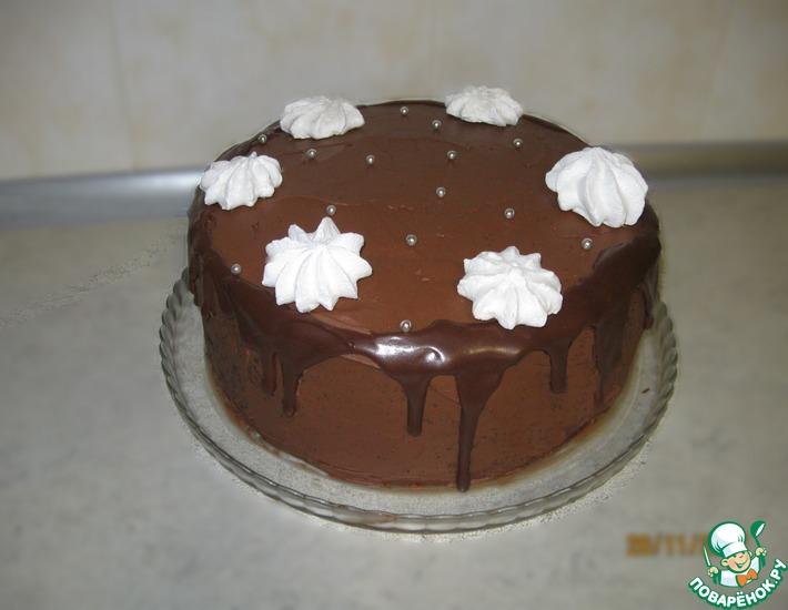Рецепт: Шоколадный торт с шоколадно-карамельным кремом