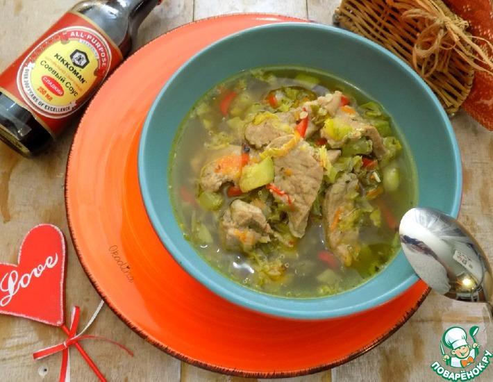 Рецепт: Густой суп со свининой и киноа