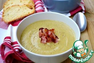 Рецепт: Суп-пюре из брокколи с сыром