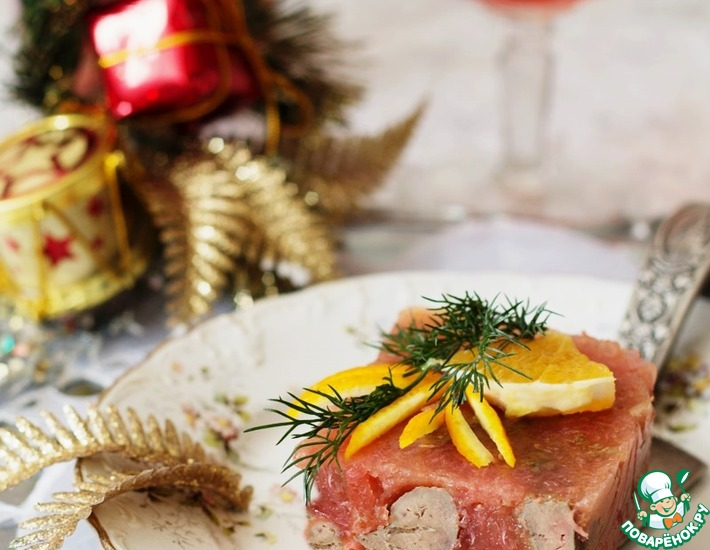 Рецепт: Куриная печень в грейпфрутовом желе