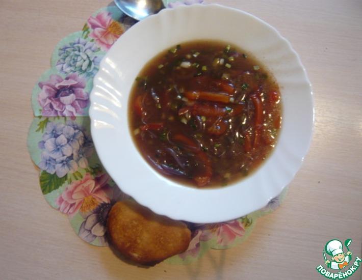 Рецепт: Луковый суп с фунчозой