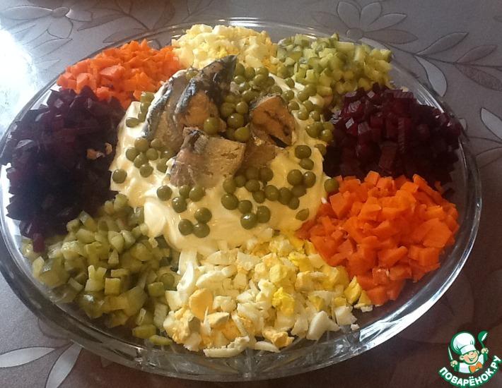 Рецепт: Салат Минутка