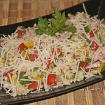 Салат из птитима с ветчиной