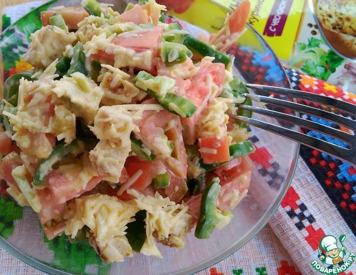 Рецепт: Салат Фантазия с куриным филе