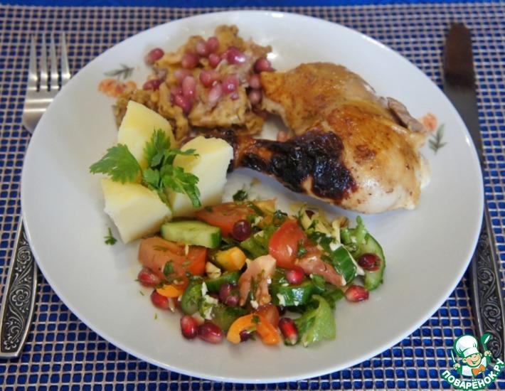 Рецепт: Фаршированный цыпленок по-особому
