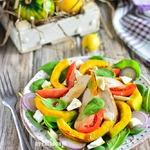 Куриный салат с печеной тыквой