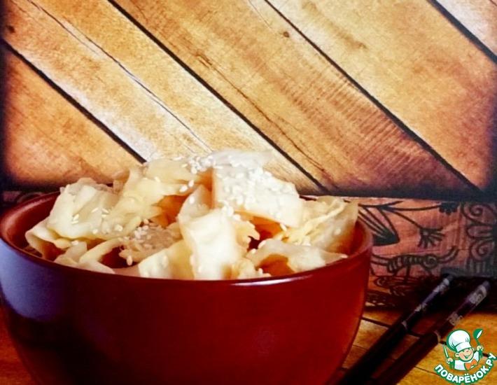 Рецепт: Быстрая капуста в соевом соусе