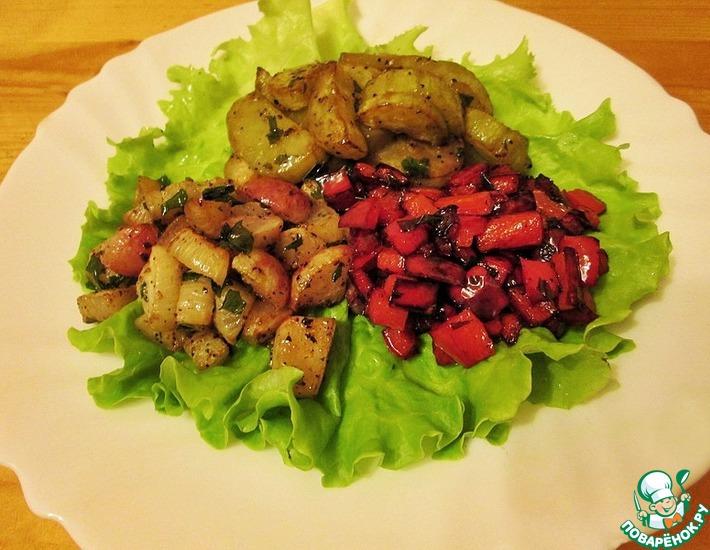 Рецепт: Легкий жареный салат