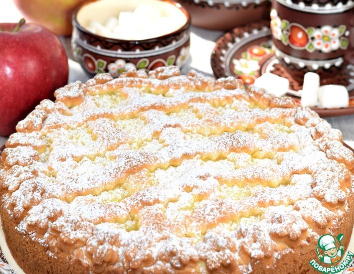 Рецепт: Пирог с яблоками Нежный