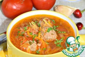 Рецепт: Капустный суп с фрикадельками