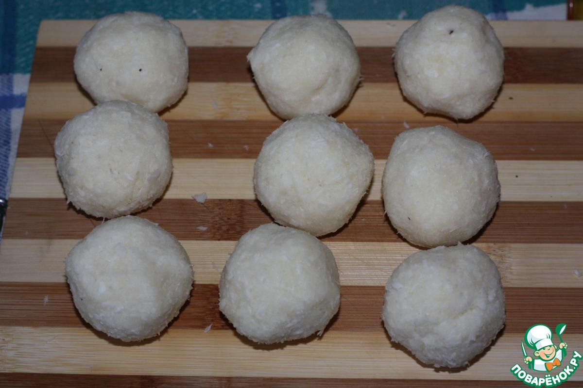 Лунный пряник с кокосовой начинкой