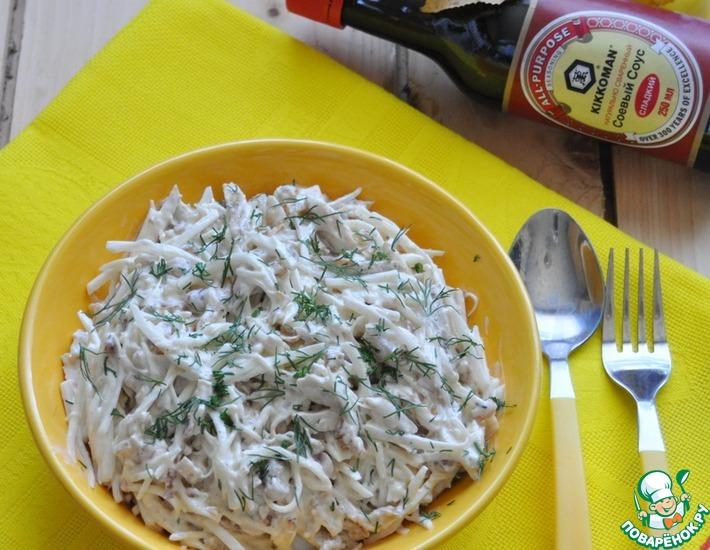 Рецепт: Салат из редьки Осенний