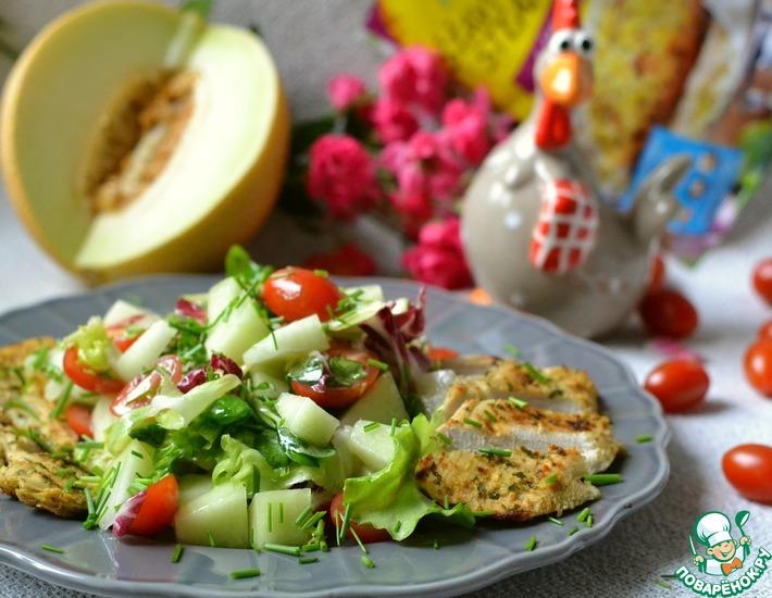Рецепт: Салат с куриным филе Простой